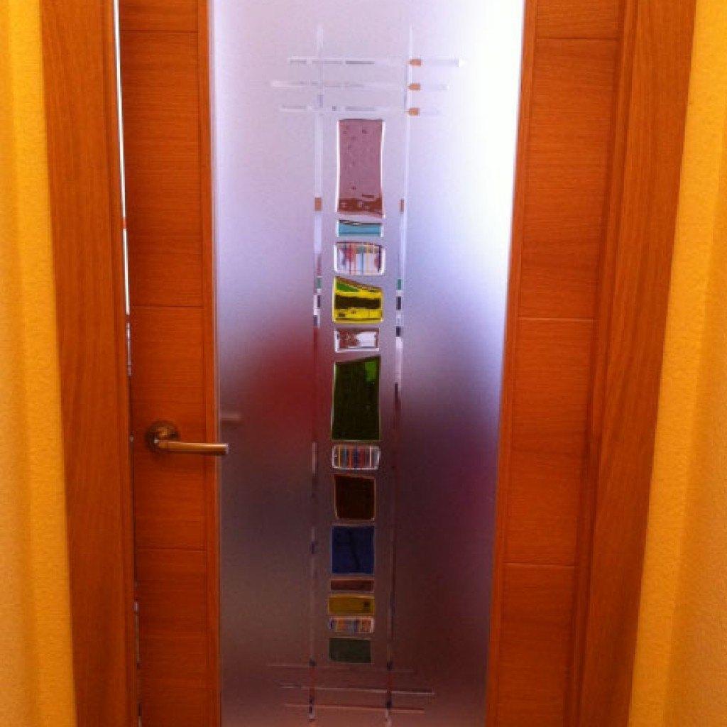 Cristal para puertas interiores for Puertas madera y cristal interior